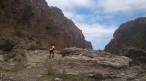Corriendo entre piedras