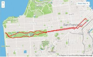 Running Route: Golden Gate Park